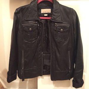 Michael Kors Black Leather Jacket, size S